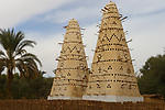 Ancient art of pigeons towers in Siwa Oasis in western desert