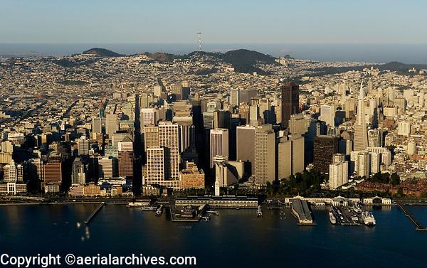 aerial photograph Embarcadero waterfront San Francisco California
