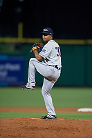 Lakeland Flying Tigers relief pitcher Wladimir Pinto (30) during a Florida State League game against the Clearwater Threshers on May 14, 2019 at Spectrum Field in Clearwater, Florida.  Clearwater defeated Lakeland 6-3.  (Mike Janes/Four Seam Images)