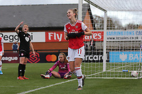 Vivianne Miedema of Arsenal scores the fifth goal for her team to complete her hat-trick and celebrates during Arsenal Women vs Bristol City Women, Barclays FA Women's Super League Football at Meadow Park on 1st December 2019
