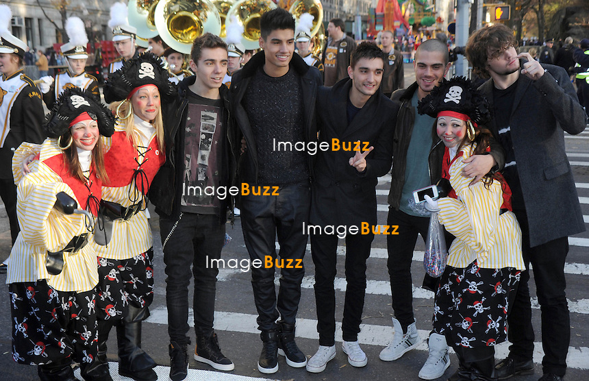 """"""" The Wanted """" at the 86th Annual Macy's Thanksgiving Day Parade in New York City. New York, November 22, 2012."""