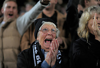 All Blacks fans celebrate during the Steinlager Series international rugby match between teh New Zealand All Blacks and France at Eden Park in Auckland, New Zealand on Saturday, 9 June 2018. Photo: Dave Lintott / lintottphoto.co.nz