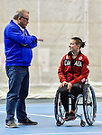 MONTREAL, QC - APRIL 29:  Maxime Gagnon and Cindy Ouellet speak to each other during the 2017 Montreal Paralympian Search at Complexe sportif Claude-Robillard. Photo: Minas Panagiotakis/Canadian Paralympic Committee