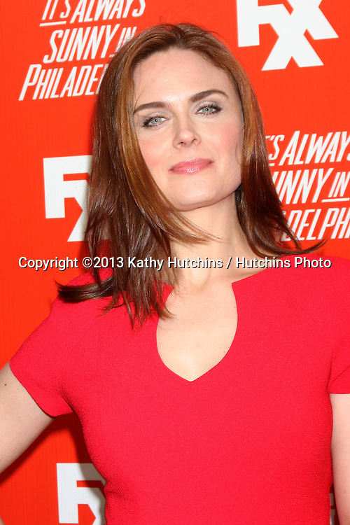 """LOS ANGELES - SEP 3:  Emily Deschanel at the FXX Network Launch Party And Premieres For """"It's Always Sunny In Philadelphia"""" And """"The League"""" at the Lure on September 3, 2013 in Los Angeles, CA"""