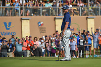 Andrew Landry (USA) sinks his par putt on 18 to win the Valero Texas Open, AT&amp;T Oaks Course, TPC San Antonio, San Antonio, Texas, USA. 4/22/2018.<br /> Picture: Golffile | Ken Murray<br /> <br /> <br /> All photo usage must carry mandatory copyright credit (&copy; Golffile | Ken Murray)