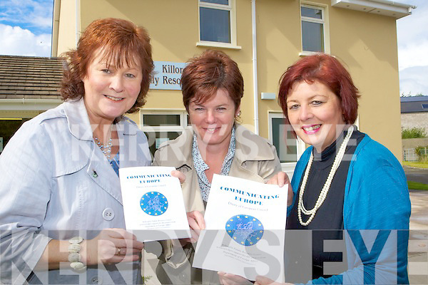 Margaret Mangan, Kathleen Morris and Margaret Wrenn from the Killorglin Resource Centre with their new book Communicating Europe (The Story of the European Union)
