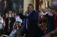 """CAR324. CARACAS (VENEZUELA), 05/08/2017. Diosdado Cabello habla durante la sesión de la Asamblea Nacional Constituyente hoy, sábado 5 de agosto de 2017, en Caracas (Venezuela). El nuevo fiscal general de Venezuela, Tarek William Saab Halabi, dijo hoy que la destitución de su predecesora, Luisa Ortega Díaz, restituye el """"orden jurídico severamente infringido"""" en el país, al tiempo que defendió la decisión que le designó en el cargo porque está ajustada a la """"legalidad"""". """"Se ha tomado una decisión según lo que dicta la Constitución y la legalidad venezolana (...) para restituir un orden jurídico severamente infringido"""", señaló Saab durante sus primeras palabras ante la plenaria de la Asamblea Nacional Constituyente (ANC), que le designó hoy. EFE/Cristian Hernández"""