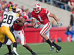 October 17, 2009: Wisconsin Badgers wide receiver Nick Toon (1) carries the ball during an NCAA football game against the Iowa Hawkeyes at Camp Randall Stadium on October 17, 2009 in Madison, Wisconsin. The Hawkeyes won 20-10. (Photo by David Stluka)