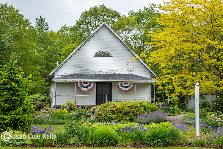 Centennial Hall in the Harpswell Historic Park  in Harpswell, Maine, USA