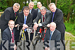 Pictured with Minister Alan Kelly at the official opening of the Knockreer cycle lane in Killarney on Monday were Kieran O'Halloran, Noel Lucey, Killarney UDC, David Doyle, town engineer, John Breen, Killarney Town Manager, Cllr Sean Counihan, Mayor of Killarney, Pat Dawson, Nataional Park and Wildlife Service and Michael O'Leary, Killarney Town Clerk.................