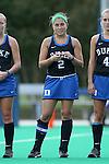 30 September 2016: Duke's Sarah Furey. The Duke University Blue Devils hosted the Boston College Eagles at Jack Katz Stadium in Durham, North Carolina in a 2016 NCAA Division I Field Hockey match. Duke won the game 6-2.