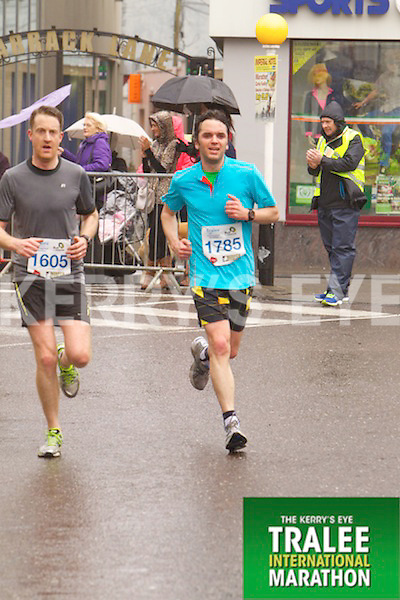 Barry O' Donoghue 1605, Alexander Williams 1785, who took part in the Kerry's Eye Tralee International Marathon on Sunday 16th March 2014.