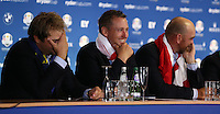 The final European Team Press Conference after Sunday's Singles at the 2014 Ryder Cup from Gleneagles, Perthshire, Scotland. Picture:  David Lloyd / www.golffile.ie