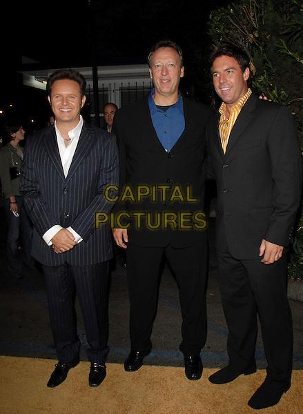 "MARK BURNETT, JON MILLER & MARK STEINES.Mark Burnett & AOL's Launch of ""Gold Rush"" interactive reality competition held at Les Deux in Hollywood, California, USA..September 12th, 2006.Ref: DVS.full length black blue suit.www.capitalpictures.com.sales@capitalpictures.com.©Debbie VanStory/Capital Pictures"