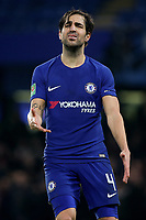 Cesc Fabregas of Chelsea shows his frustration during Chelsea vs Arsenal, Caraboa Cup Football at Stamford Bridge on 10th January 2018