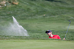 Ben Silverman hits out of a bunker during the Barracuda Golf Championship at Montreux on Sunday, August 5, 2018.
