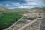 Tibet, a view of Gyantse