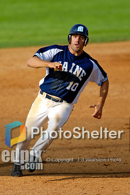 18 May 2006: Joe Hough,  a University of Maine Senior from West Roxbury, MA, hustles to third during a game against the University of Vermont Catamounts, at Historic Centennial Field, in Burlington, Vermont...Mandatory Photo Credit: Ed Wolfstein Photo..