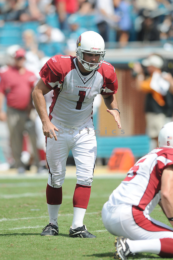 NEIL RACKERS,of the Arizona Cardinals , in action during the Cardinals game against the Jacksonville Jaguars on September 20, 2009 Jacksonville, FL.  The Cardinals beat the Jaguars 31-17.