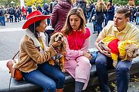 NOVA YORK, EUA, 27.10.2018 - HALLOWEEN-EUA - Caes fantasiados participam de festa de Halloween na Washigton Square Park na ilha de Manhattan em Nova York neste domingo, 27. (Foto: Vanessa Carvalho/Brazil Photo Press)