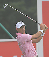 Jonathon Byrd (USA) on the 11th tee during Round 3 of the CIMB Classic in the Kuala Lumpur Golf & Country Club on Saturday 1st November 2014.<br /> Picture:  Thos Caffrey / www.golffile.ie
