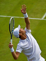 England, London, 23.06.2014. Tennis, Wimbledon, Tomas Berdych (CZE)<br /> Photo:Tennisimages/Henk Koster