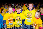 Mary murphy, James O'connor, Donal O'Connor and Roisin Murphy at Nathan's walk Darkness into Light walk in aid of Pieta House in Killarney racecourse  on Saturday