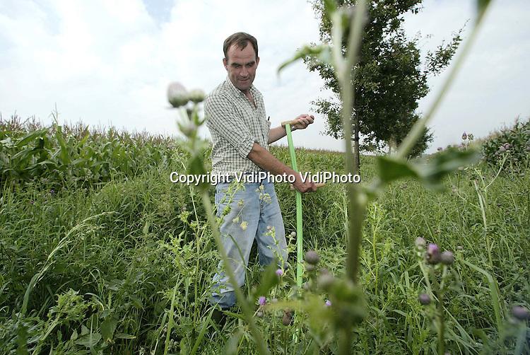 Foto: VidiPhoto..HERPEN - Willy Toonen in het natuurgebied achter zijn boerderij.