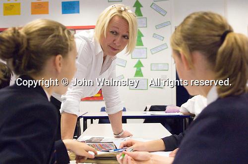 Mature woman on Initial Teacher Training Graduate Teaching Programme (GTP) in English Dept.