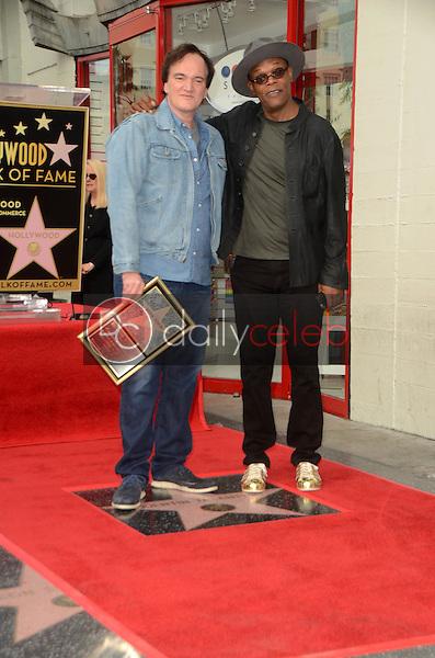 Quentin Tarantino, Samuel L. Jackson<br /> at the Quentin Tarantino Honored Star On The Hollywood Walk Of Fame, Hollywood, CA 12-21-15<br /> David Edwards/Dailyceleb.com 818-249-4998