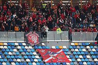 Perugia supporters cheer on<br /> Napoli 14-01-2020 Stadio San Paolo <br /> Football Italy Cup 2019/2020 SSC Napoli - AC Perugia<br /> Photo Cesare Purini / Insidefoto
