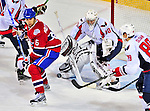 13 December 2008: Washington Capitals' goaltender Simeon Varlamov from Russia makes a save against the Montreal Canadiens in the second period at the Bell Centre in Montreal, Quebec, Canada. ***** Editorial Sales Only ***** Mandatory Photo Credit: Ed Wolfstein Photo