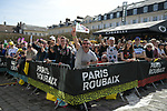 Team presentation before the 116th edition of Paris-Roubaix 2018. 7th April 2018.<br /> Picture: ASO/Pauline Ballet | Cyclefile<br /> <br /> <br /> All photos usage must carry mandatory copyright credit (&copy; Cyclefile | ASO/Pauline Ballet)