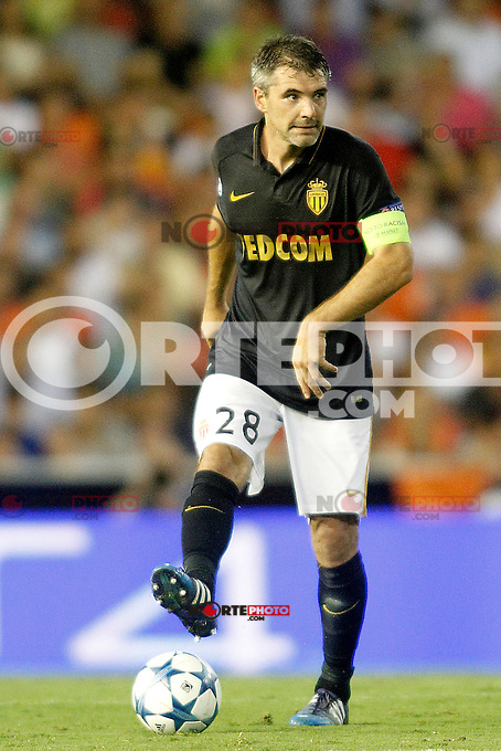 AS Monaco FC's Jeremy Toulalan during Champions League 2015/2016 Play-Offs 1st leg match. August  19,2015. (ALTERPHOTOS/Acero)