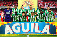 CALI - COLOMBIA, 18-08-2018: Los jugadores de Atlético Nacional posan para una foto, antes partido entre América de Cali y Atlético Nacional de la fecha 5 por la Liga Aguila II 2018 jugado en el estadio Pascual Guerrero de la ciudad de Cali. / The players of Atletico Nacional, pose for a photo, before a match between America de Cali and Atletico Nacional of the 5th date for the Liga Aguila II 2018 at the Pascual Guerrero stadium in Cali city. Photo: VizzorImage / Nelson Rios / Cont.