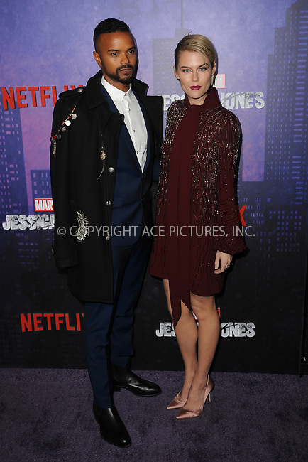 www.acepixs.com<br /> March 7, 2018  New York City<br /> <br /> Eka Darville and Rachael Taylor attending attending Marvel's 'Jessica Jones' season 2 TV show premiere on March 7, 2018 in New York City.<br /> <br /> Credit: Kristin Callahan/ACE Pictures<br /> <br /> <br /> Tel: 646 769 0430<br /> Email: info@acepixs.com