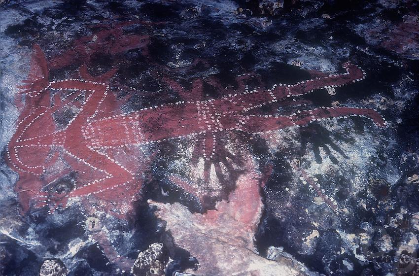 Aboriginal Rock art in Arnhem Land, Northern Territory Australia