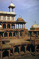 Islamic Architecture:  The Mausoleum of Akbar, near Agra.  Planned during the lifetime of the Great Emperor. Not completed until 1613, 8 years after his death.