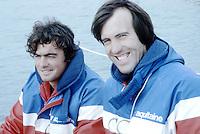 Marc Pajot et Paul Ayasse sur Elf Aquitaine, 1981. Vainqueur de la Route du Rhum 1982.