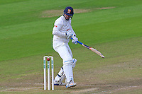 David Masters of Essex looks back as the ball narrowly misses the stumps during Glamorgan CCC vs Essex CCC, Specsavers County Championship Division 2 Cricket at the SSE SWALEC Stadium on 23rd May 2016