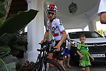 Michal Kwiatkowski (POL) Team Sky gets ready for a morning training ride before Stage 1 of the La Vuelta 2018, an individual time trial of 8km running around Malaga city centre. Mijas, Spain. 23rd August 2018.<br /> Picture: Eoin Clarke | Cyclefile<br /> <br /> <br /> All photos usage must carry mandatory copyright credit (&copy; Cyclefile | Eoin Clarke)