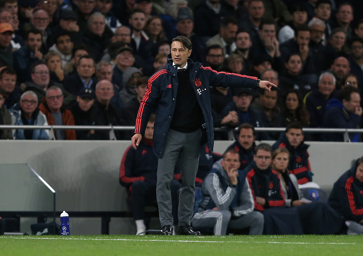 Bayern Munich coach Niko Kovac<br /> <br /> Photographer Rob Newell/CameraSport<br /> <br /> UEFA Champions League Group B  - Tottenham Hotspur v Bayern Munich - Tuesday 1st October 2019 - White Hart Lane - London<br />  <br /> World Copyright © 2018 CameraSport. All rights reserved. 43 Linden Ave. Countesthorpe. Leicester. England. LE8 5PG - Tel: +44 (0) 116 277 4147 - admin@camerasport.com - www.camerasport.com