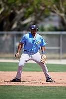 Tampa Bay Rays Devin Davis (52) warms up before a Minor League Spring Training game against the Minnesota Twins on March 17, 2018 at CenturyLink Sports Complex in Fort Myers, Florida.  (Mike Janes/Four Seam Images)