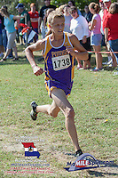 Potosi sophomore Austin King runs to victory in the 3A Varsity 5k.
