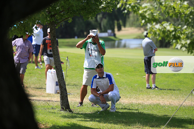 Jacques Blaauw (RSA) plays from the trees down the 8th  during Round Two of the 2016 BMW SA Open hosted by City of Ekurhuleni, played at the Glendower Golf Club, Gauteng, Johannesburg, South Africa.  08/01/2016. Picture: Golffile | David Lloyd<br /> <br /> All photos usage must carry mandatory copyright credit (&copy; Golffile | David Lloyd)