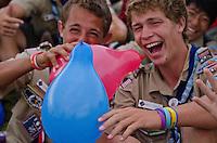 Laughing Americans.  Photo: Malin Duveblad/Scouterna