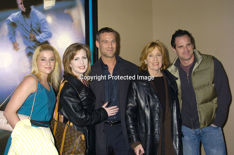 """Jessica Dunphy, Martha Byrne, Grayson McCouch, Elizabeth Hubbard and Michael Park ..at a celebrity screening of """"G5"""" a new movie starring..Grayson McCouch, Amy Locaine and Michelle Geisner on ..November 29, 2004 at the UA Battery Park City Stadium..Theatre. Photo by Robin Platzer, Twin Images"""