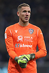 Robin Olsen of Cagliari during the Coppa Italia match at Giuseppe Meazza, Milan. Picture date: 14th January 2020. Picture credit should read: Jonathan Moscrop/Sportimage