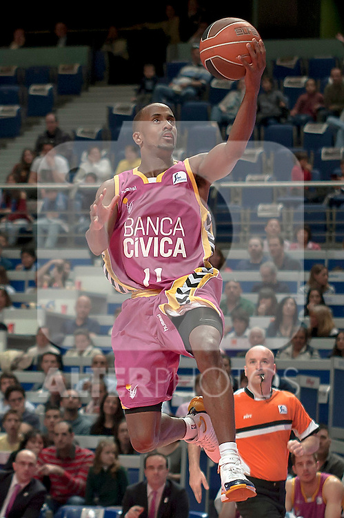 Banca Civica's Earl Calloway during Liga Endesa ACB match.April 1,2012. (ALTERPHOTOS/Ricky)