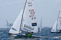 470 / Lara VADLAU - Jolanta OGAR (AUT)<br /> ISAF Sailing World Cup Final - Melbourne<br /> St Kilda sailing precinct, Victoria<br /> Port Phillip Bay Tuesday 6 Dec 2016<br /> &copy; Sport the library / Jeff Crow